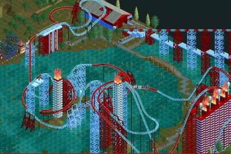 Flowing Fury - a water and fire based giga coaster